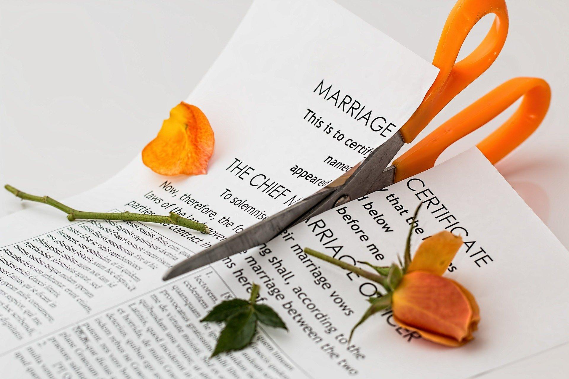 離婚 書類 切る